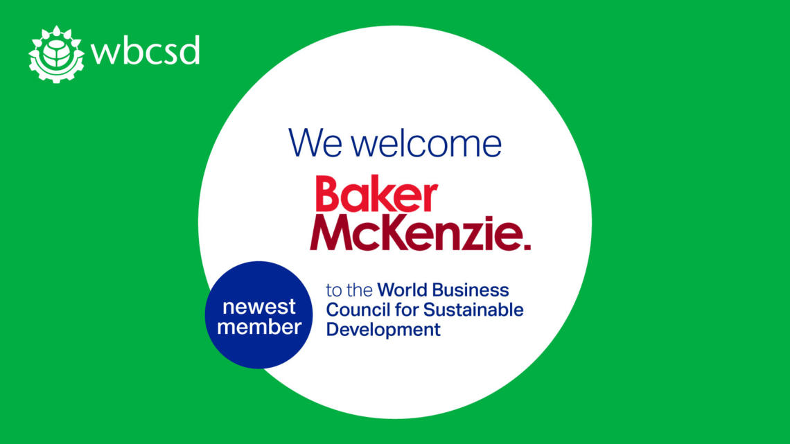 Baker McKenzie becomes the first law firm to join WBCSD - World