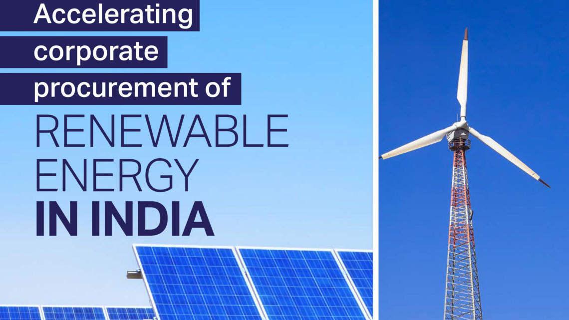 accelerating corporate procurement of renewable energy in