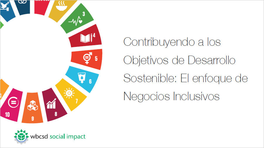 Inclusive business and the SDGs: A view from the WBCSD's